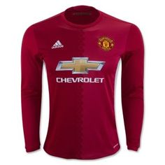 16-17 Manchester United Long Sleeve Home Jersey
