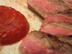 Giada's Rib-Eye Steaks with Smoky Arrabiata Sauce
