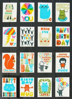 Super cute cards from Sukie Print and Pattern blog