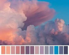 So, I'm excited to announce the Colors of the Clouds palette! It's an eyeshadow palette collaboration between myself and Cosmetics by Tanderson! The palette was inspired by the photo by Marko. Colour Pallette, Colour Schemes, Sunset Color Palette, Doodle Drawing, Color Balance, Color Studies, Color Swatches, Color Theory, Art Tutorials
