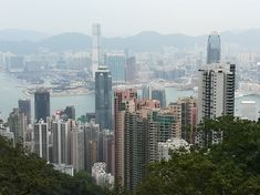 Iconic view from The Peak, Hong Kong Island Seattle Skyline, San Francisco Skyline, Hong Kong, Island, Photo And Video, Travel, Viajes, Islands, Destinations