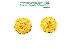 Gold Earrings for Women in 22K Gold - GER5257 - Indian Jewelry from Totaram Jewelers