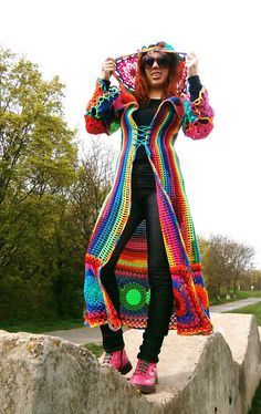 Kaleidocoat by Babukatorium, a crochet hero to Crochet Attic and many others of us!