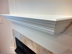 The Bodie Custom Fireplace Mantel Shelf