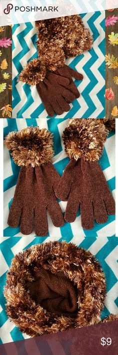 Gloves & Hat Set Super soft brown hat and gloves set, new without tags. Unbranded. Accessories Gloves & Mittens