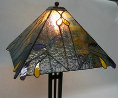 Stained Glass Table Lamp by DayliteStainedGlass on Etsy, $225.00