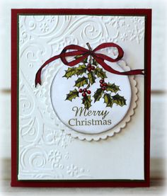 Stampin up Simple...beautiful Christmas card