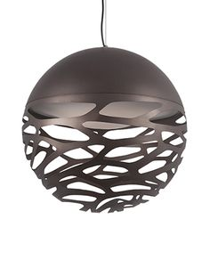PD2519– Single LED Pendant with Organic Shaped Laser Cut Metal Sphere Shades