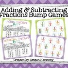 Adding and Subtracting Fractions Bump Games (LIKE Denominators) Adding And Subtracting Fractions, Bright Ideas, Math Classroom, Bump, Ads, Teaching, Education, Onderwijs, Learning