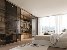 Wood and glass walk-in wardrobe PICA' By Zalf Walk In Closet Design, Wardrobe Design Bedroom, Bedroom Furniture Design, Closet Designs, Home Decor Bedroom, Dressing Room Closet, Dressing Room Design, Home Room Design, Home Interior Design
