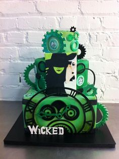 Wicked The Musical cake!  Wicked flies back to the Sacramento Community Center Theater May 28 - June 15, 2014. For info and tickets: http://www.californiamusicaltheatre.com/events/wicked/