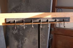 7 Hook Iron Pot Rack Metal Pot Rack Coat by ArtisansoftheAnvil, $135.00