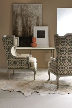 We absolutely adore these chairs by @bernhardtinc using our @wmbgbrand Lamerie Lattice fabric by P/K Lifestyles. #TrendMeetsTradition @pklpam