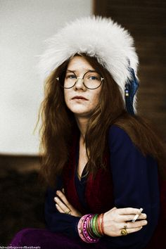 This is my color edit (the credit in the bottom left corner is my blog URL) of Janis Joplin, photographed by David Gahr in 1969