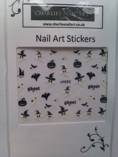 Ghost nail art stickers £1.00 http://www.charliesnailart.co.uk/ghost-nail-stickers/