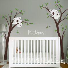 Baby Nursery Product | Baby Nursery Decor : Koala Tree and Custom Name - Nursery Wall Decal