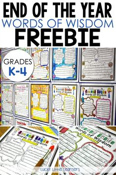 Words of Wisdom Freebie! Hyper kids, testing, (extra coffee), irritable teachers, report cards, memory books, (extra coffee), next year's classroom ordering, student placements, field trips, (extra coffee), need I say more? Scoop up this free writing activity that will allow for a bulletin board to be prepped for next year and keep this year's students busy and writing!
