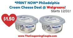 Grab your coupon NOW as it likely won't be available 12/31! *PRINT NOW* Philadelphia Cream Cheese Deal @ Walgreens (Starts 12/31)!  Click the link below to get all of the details ► http://www.thecouponingcouple.com/print-now-philadelphia-cream-cheese-deal-walgreens-starts-12-31/ #Coupons #Couponing #CouponCommunity  Visit us at http://www.thecouponingcouple.com for more great posts!