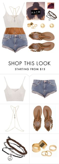 """""""Untitled #348"""" by starmaterial54 ❤ liked on Polyvore featuring One Teaspoon, River Island, Billabong, Topshop, Pieces and Bony Levy"""