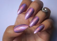 Holographic stiletto nails , Holographic nails, Purple nails, Fake nails, False nails, Kylie jenner, Press on nails, Acrylic Nails, nails by FifeFantasiNails on Etsy https://www.etsy.com/listing/464597528/holographic-stiletto-nails-holographic