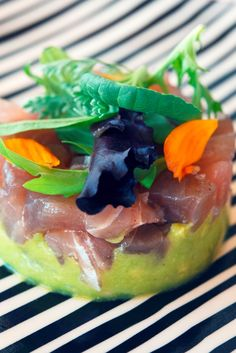 This vibrant tuna tartare recipe from chef Daniele Usai is served atop a creamy homemade guacamole – just make sure the avocados are extra ripe for a silky smooth finish.
