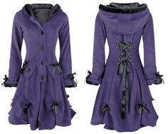 Alice Coat Ladies Purple Poizen Industries New Gothic Emo Punk Fashion
