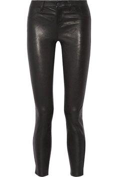 L'Agence - Aurelie Leather Skinny Pants - Black -