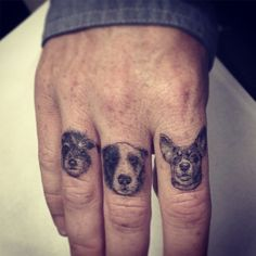 Dr Woo dogs tattoo