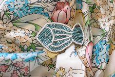 Брошь РЫБА из серии МОРЕ И ПРУД в магазине «BROOCHMARKET» на Ламбада-маркете