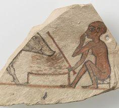 Enfant devant un porc, XIIe av. J.-C., Paris, musée du Louvre