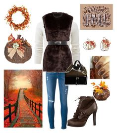 """Fall Colors"" by kotnourka ❤ liked on Polyvore featuring Frame Denim, Allude, Karl Lagerfeld, Kartell, Tabitha Simmons, Transpac, Fantastic Craft, WALL and Improvements"