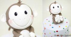 pequeño pastel mono por Sharon Wee