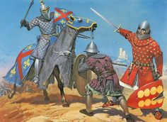 • Portuguese knight, c. 1350 • Navarrese footsoldier, mid-14th C. • Aragonese knight, c. 1325
