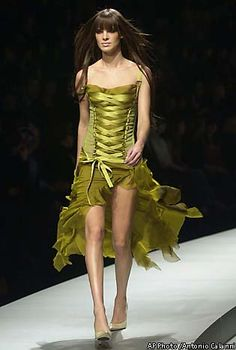 Feel Good Fashion In Milan Designers Respond To Tough Times With Retro Or Formality Corset Dressese