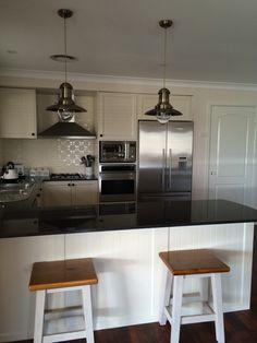 new kitchen pressed metal splashback