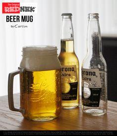 【楽天市場】Rednek Beer Mug (約800ml) / レッドネック ビアー マグ Carson USA / カーソン / ball mason jar ボール メイソン ジャー コップ ガラス ビール 瓶 ビールジョッキ ジョッキ ビン DETAIL【あす楽対応_東海】:interiorzakka ZEN-YOU