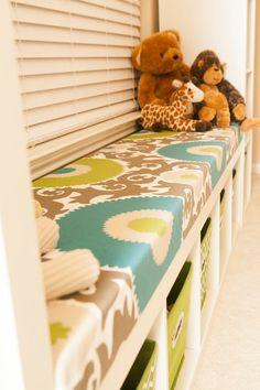 Playroom: No Sew Seating Bench