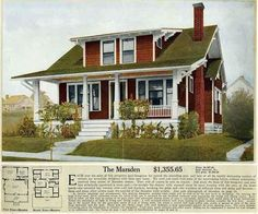 Many Arts & Crafts houses were built from kits manu­fac­tured by Sears, Roe­buck & Co., Alad­din and other kit makers. Kits weighed about 25 tons, included a detailed assembly manual, extensive blueprints, and about 10-30,000 individual pieces. Sears alone sold over 70,000 kit homes from 1908 to 1940.