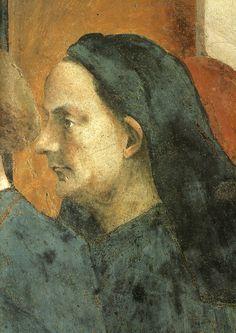 Masaccio, cappella brancacci, san pietro in cattedra. ritratto di filippo brunelleschi - Creator:Filippo Brunelleschi — Wikimedia Commons.