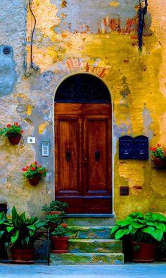 Pienza doors Tuscany, Italy