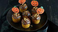 Cupcakes {Potiron & chocolat} #Halloween vegan