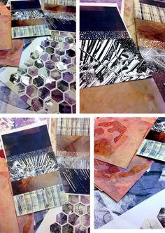 Kate Mills - Mark making, collage, screen print, mono print, textures, geometric pieces. © 2014