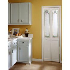 Grapevine Decorative Glass Bifold Door | Overstock™ Shopping - Great Deals on American Wood Doors