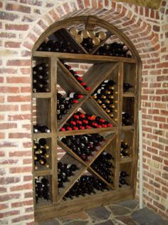 this is a perfect, small space for storing wine bottles