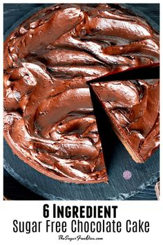 A delicious sugar free dessert cake recipe does not get much easier than this one. This is how to make 6 Ingredient Sugar Free Chocolate Cake. Diabetic Chocolate Cake, Sugar Free Chocolate Cake, Sugar Free Deserts, Sugar Free Treats, Sugar Free Recipes, Chocolate Recipes, Chocolate Cheesecake, Dessert Cake Recipes, Köstliche Desserts