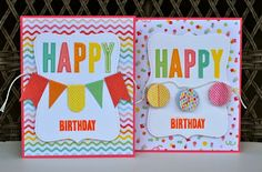cool b-day cards...simple but fun!  by Aphra Bolyer