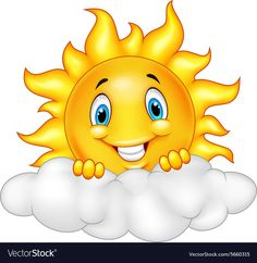 illustration of Smiling Sun Cartoon Mascot Character. Cartoon Cartoon, Cartoon Characters, Art Drawings For Kids, Drawing For Kids, Easy Drawings, Summer Crafts For Kids, Art For Kids, Bisous Gif, Baby Animals