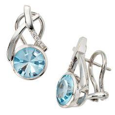 Dreambase Damen-Stecker 8 Diamant-Brillanten 14 Karat (585) Weißgold 2 Topas 0.044 ct. von Dreambase, http://www.amazon.de/dp/B0097REBVG/ref=cm_sw_r_pi_dp_5nKarb1VBBHBG