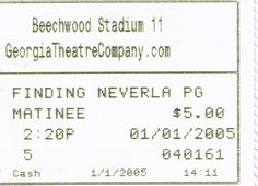 Movie Ticket - Finding Neverland