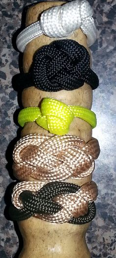 Paracord 550 Rings Various Knotting styles